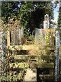 TR3448 : Hangman's Lane railway crossing: east side stile by Hugh Craddock