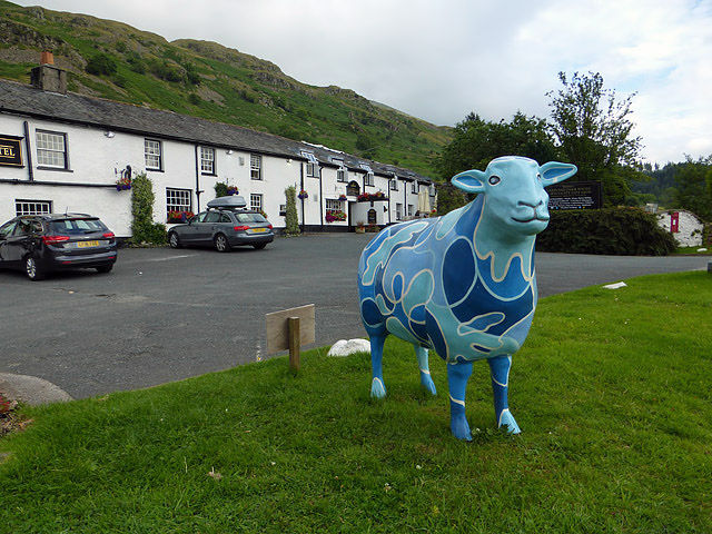 A blue sheep at Thirlmere