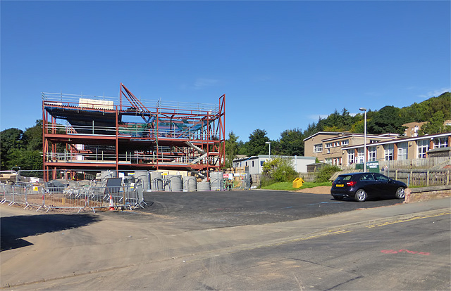 The new Langlee Primary School in Galashiels under construction