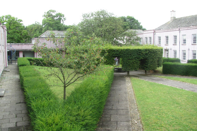 View across the Courtyard at the Former Foxhole School