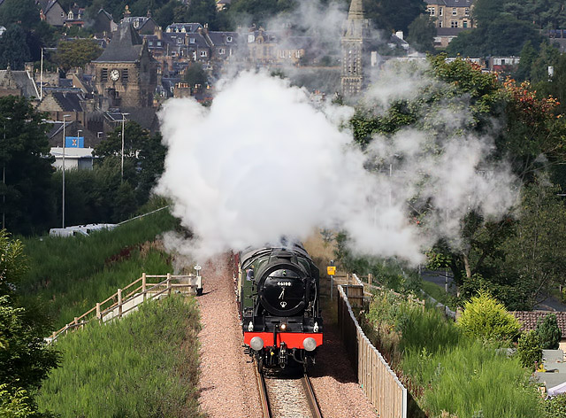 Royal Scot on the Borders Railway at Galashiels