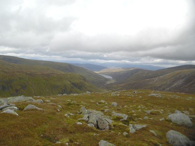 Looking into Glen Callater