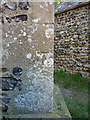 TF9742 : OS benchmark - Stiffkey, St John the Baptist's Church by Richard Law