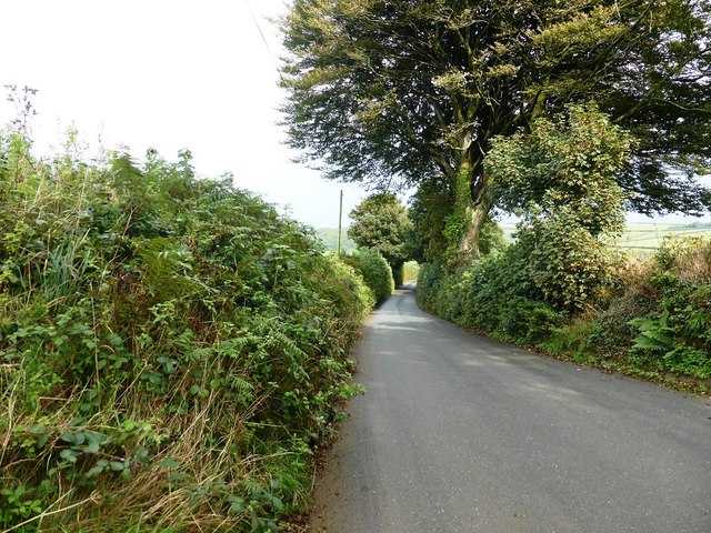 The minor road from Halwell to Moreleigh, near Stanborough House