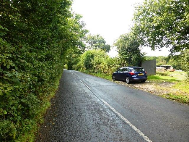 Lane west of Moreleigh near Springfield Farm