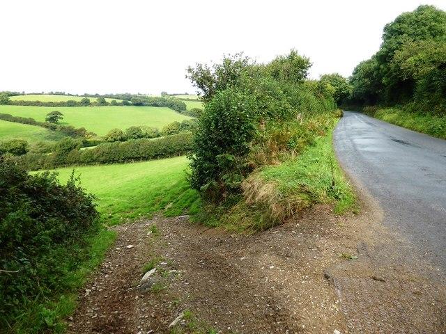 Lane west of Gara Bridge near Lupridge