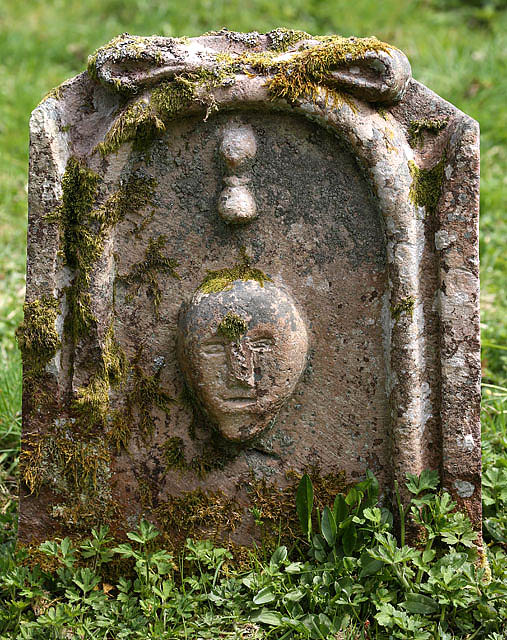A symbolic gravestone at Longformacus Parish Churchyard