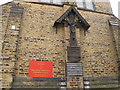 SE1533 : St Mary Magdalene church, Manningham: war memorial by Stephen Craven