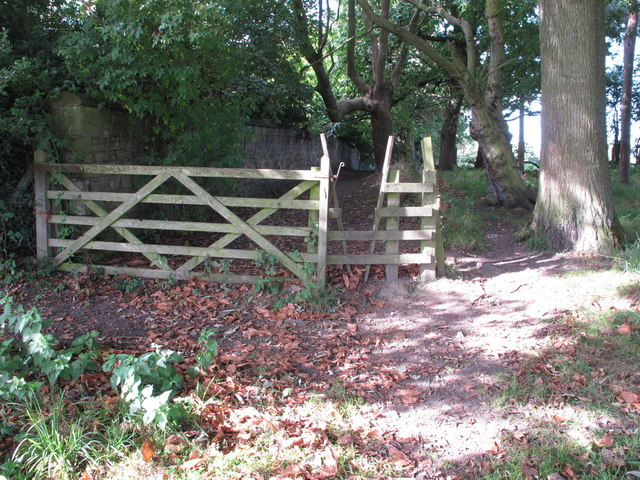 Stile and gate on public footpath, Bellasis, Durham