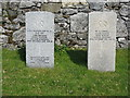 NG6120 : Commonwealth War Graves at Cille Chriosd by M J Richardson