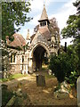 TG2408 : The chapel bell tower at The Rosary Cemetery, Norwich by Adrian S Pye
