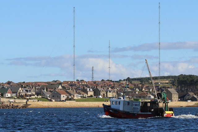 The Maldon approaches Burghead harbour