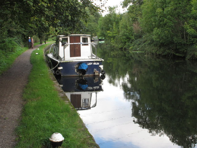 Lady Helen, canal boat on Grand Union Canal