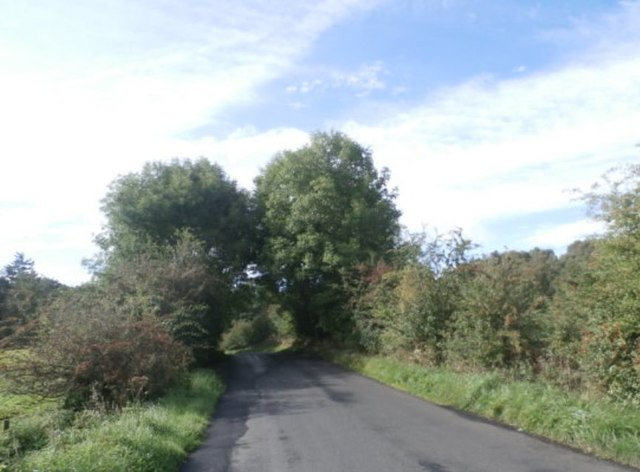 The B6309 near Guessburn