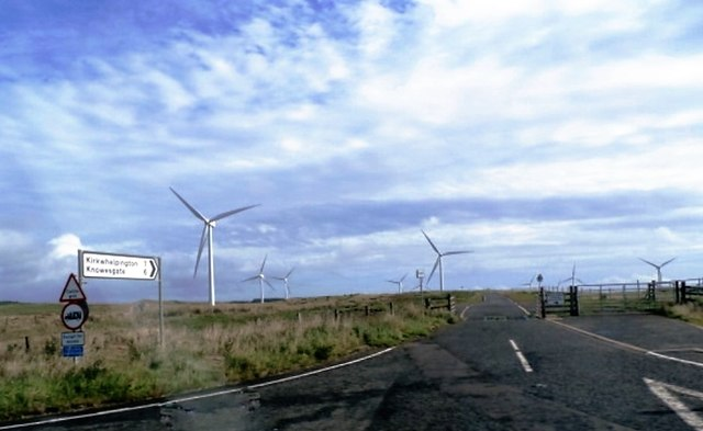 Lane through the Windfarm