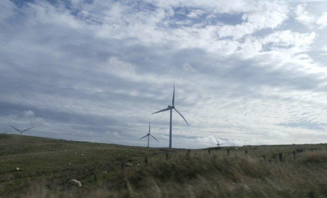 Fields near Hartside Wind Farm