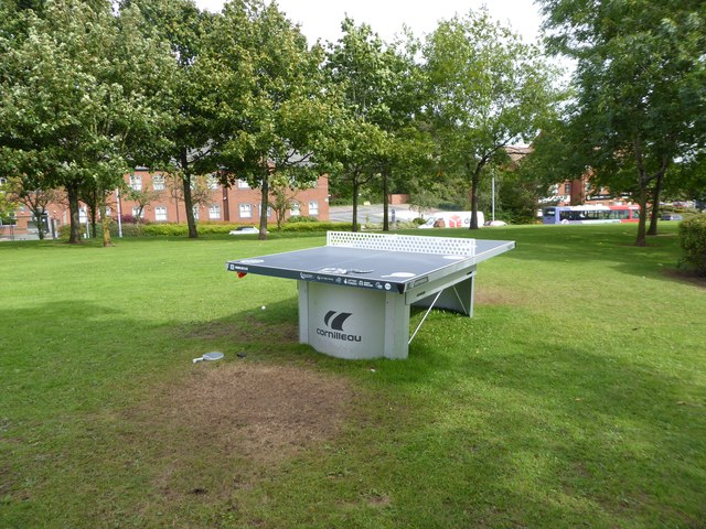 Outdoor table tennis facility in jonathan hutchins cc by sa 2 0 geograph britain and ireland - Table tennis table ireland ...