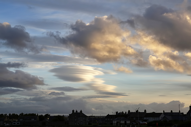 An interesting sky over Lossiemouth