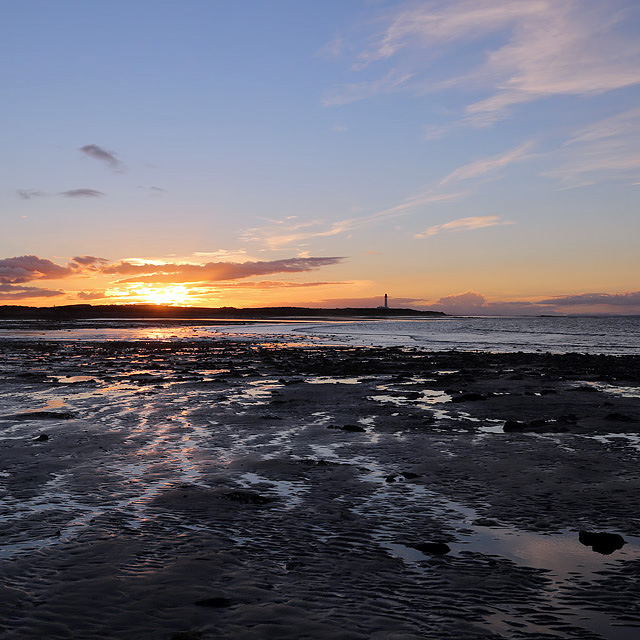 Sunset at Lossiemouth West Beach