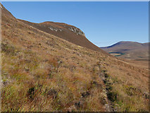 NH3772 : Sheep tracks below Creag Bhreac Bheag by Julian Paren