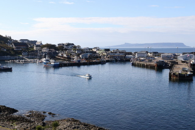 Mallaig harbour and ferry terminal