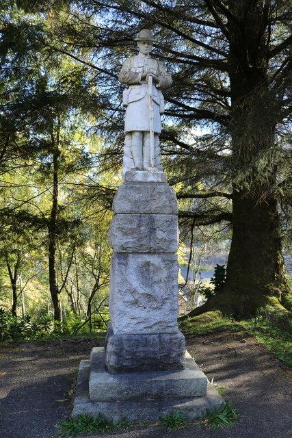 War memorial near Glenfinnan