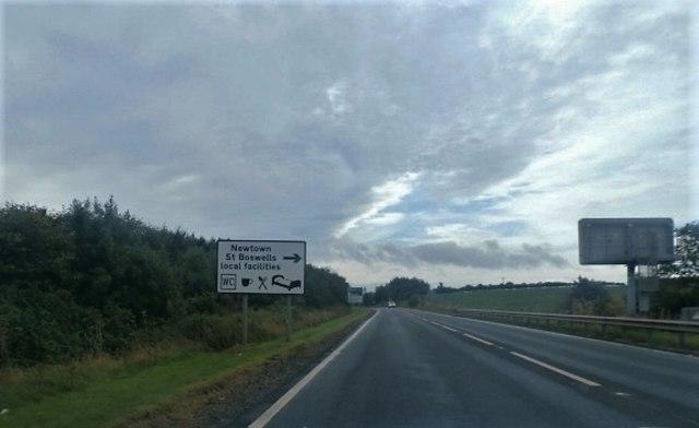 A68 near Eildon