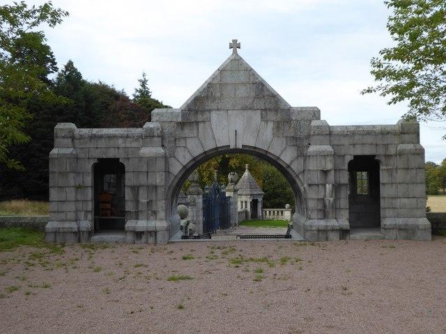 A gateway from Dunecht House chapel