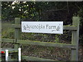 TM1287 : Sevenoaks Farm sign by Adrian Cable