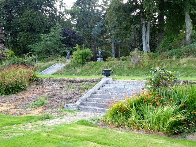Dunecht House - Garden steps