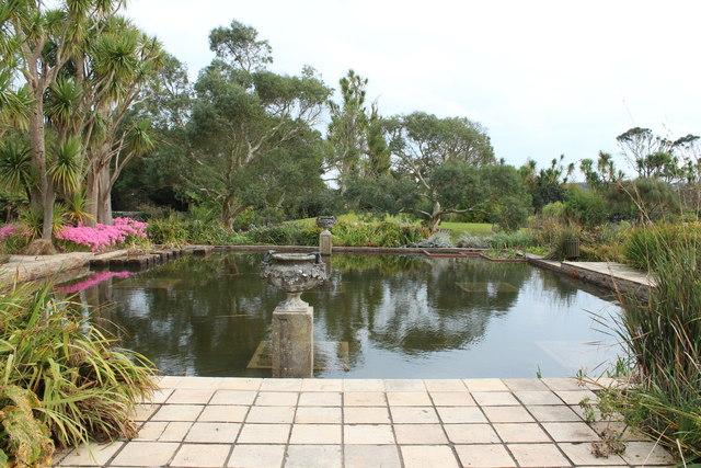 Formal Pond Logan Botanic Garden Billy Mccrorie
