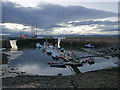 NH7867 : Cromarty Harbour at dusk : Week 42