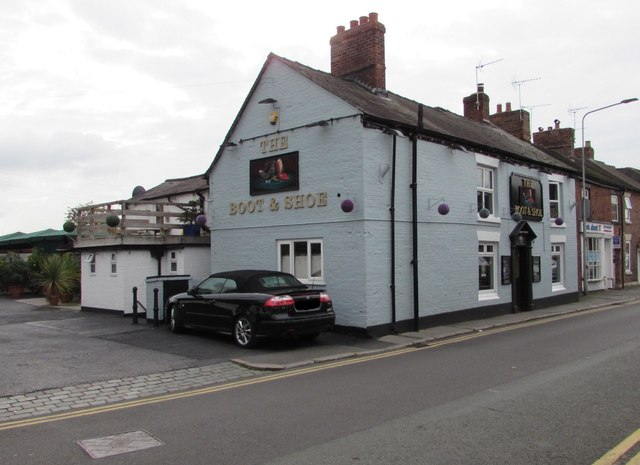 boot shoe in nantwich 169 jaggery geograph britain and
