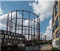 TQ3483 : Gas Holder, Regents Canal, London : Week 41