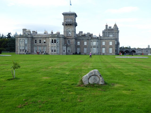 Dunecht House - South face and central tower