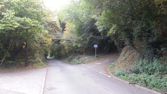 Church Lane joins the railway