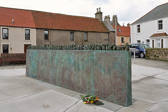 The Widows and Bairns sculpture at Eyemouth