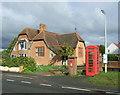 TM3989 : Elizabeth II postbox and phonebox on the B1062, Barsham by JThomas