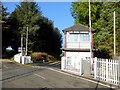 NY5048 : Low House signal box and level crossing by Oliver Dixon