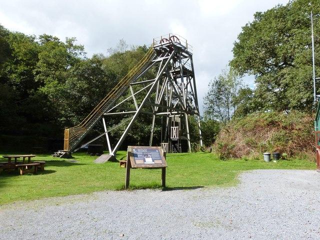 Mine Headframe, The Dolaucothi Gold Mine, Pumsaint, Wales