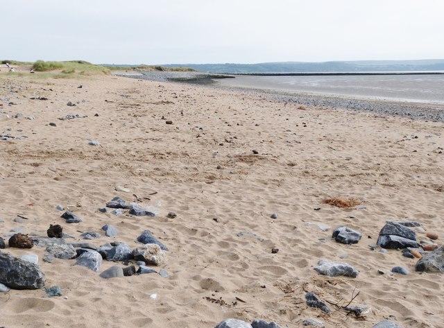 Sand dunes at Llanelli beach