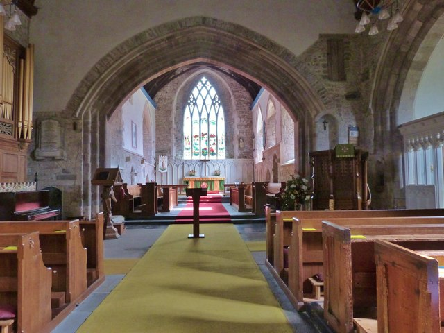 The Nave and Chancel Arch, St. Mary's church, Kidwelly, Carmarthenshire
