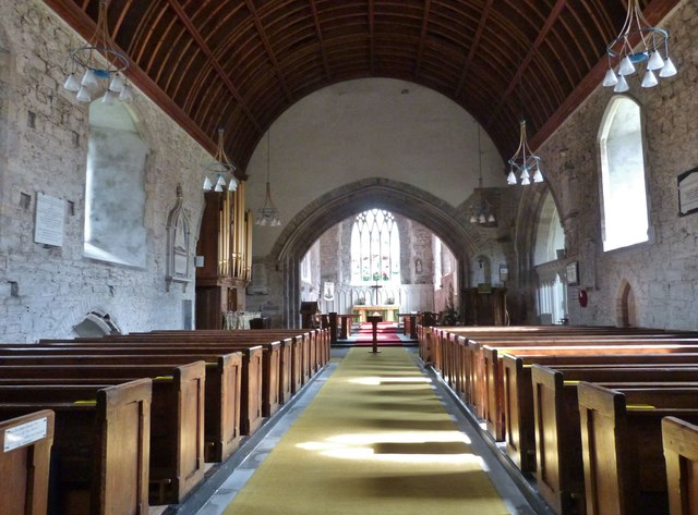 The Nave, St. Mary's church, Kidwelly, Carmarthenshire