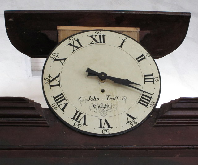 Clock in Loughwood Meeting House