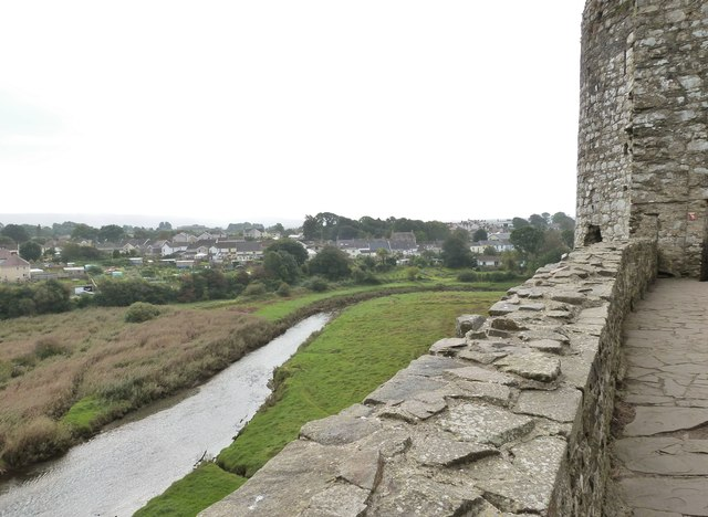 The town of Kidwelly from the castle