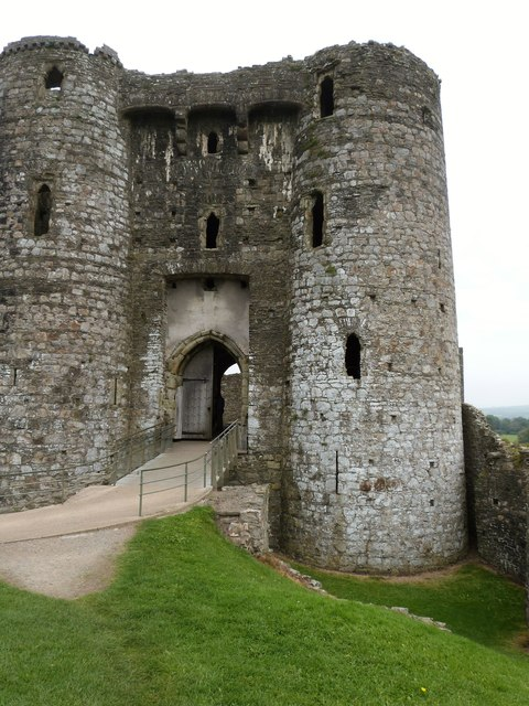 Entrance to Kidwelly Castle ruins, Carmarthenshire
