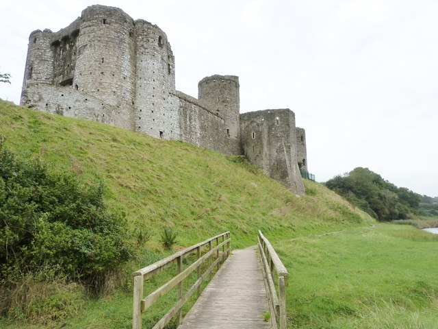 Kidwelly Castle from the riverside walk