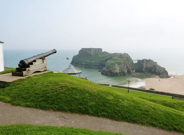View South-east from Castle Hill, Tenby