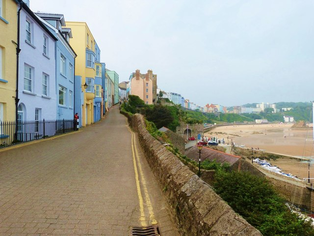 Crackwell Street and the North Beach, Tenby