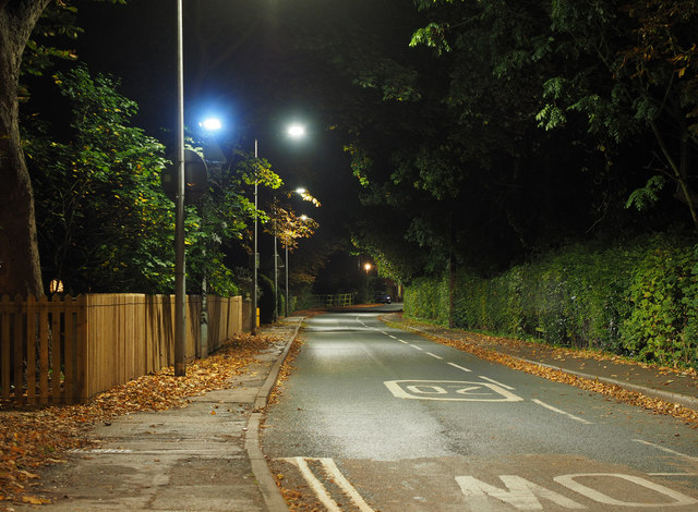 Station Road at Night